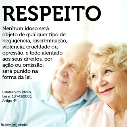 Respeite o idodos