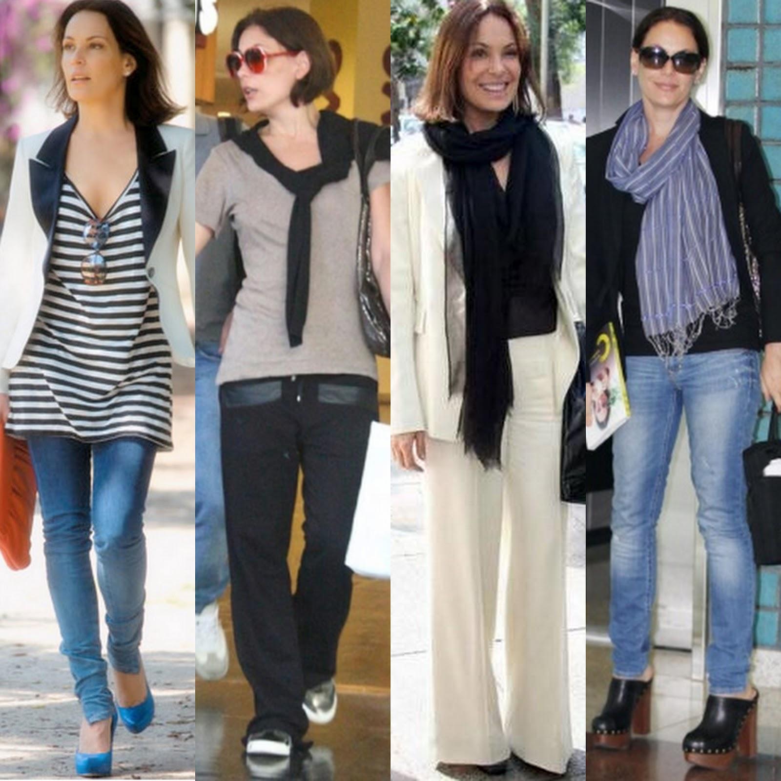 calça jeans Carolie Ferraz