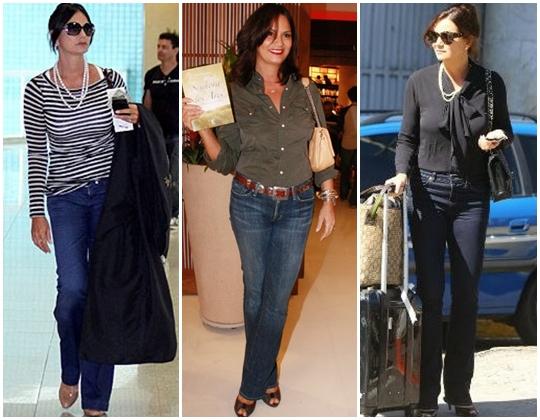 calça jeans Luiza Brunet
