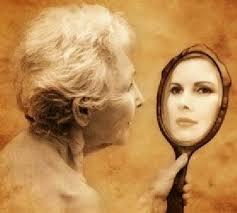envelhecer no espelho