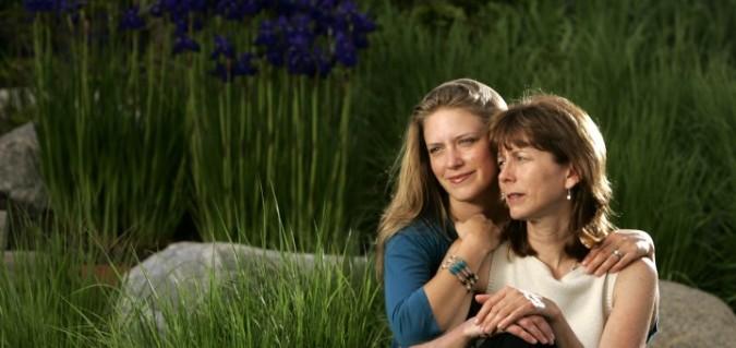 Regina Brett com a filha