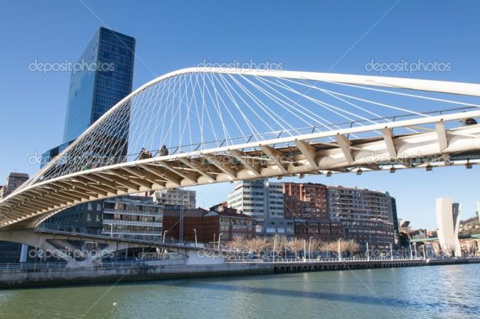 Espanha bilbau-bridge-santiago-calatrava-in